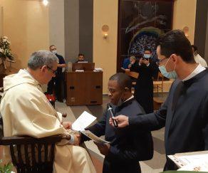 SARONNO: Prima Professione di Fr. Jude